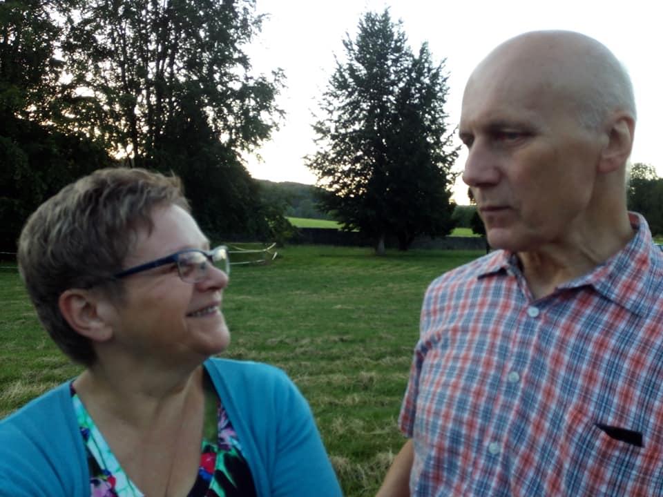 Colette et André verre d'anniversaire, 20 juin, Clairefontaine